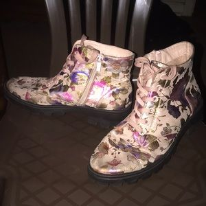 Floral Pink Boots